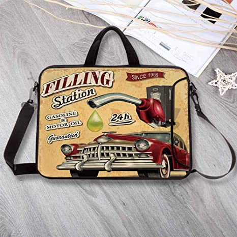 bbdd6dab61df Amazon.com: Cars Lightweight Neoprene Laptop Bag,Filling Station ...