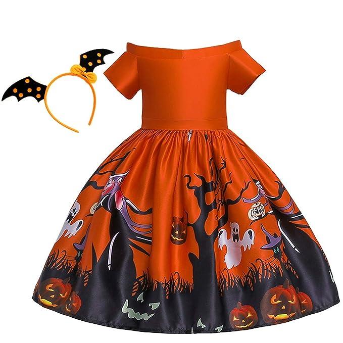 Amazon.com: HIHCBF disfraz de Halloween para niñas con ...
