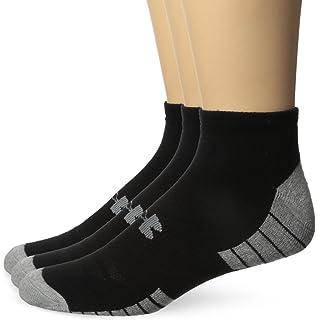 81e0ee56e Amazon.com: Under Armour Men's HeatGear Solo No-Show Socks (3 Pairs ...