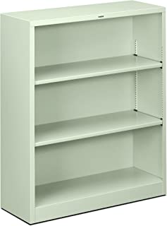 product image for HON Metal Bookcase - Bookcase with Two Shelves, 34-1/2w x 12-5/8d x 41h, Light Gray (HHS42ABC)