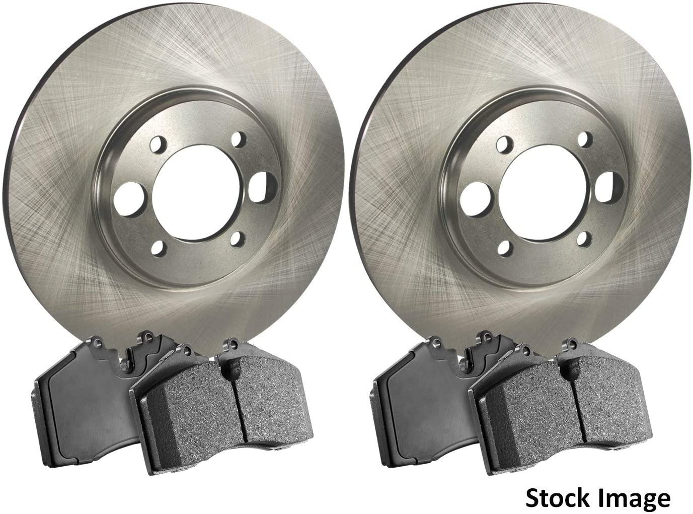 One Year Warranty Stirling For Both Left and Right 2016 for Ford Transit Connect Front Premium Quality Disc Brake Rotors And Ceramic Brake Pads -