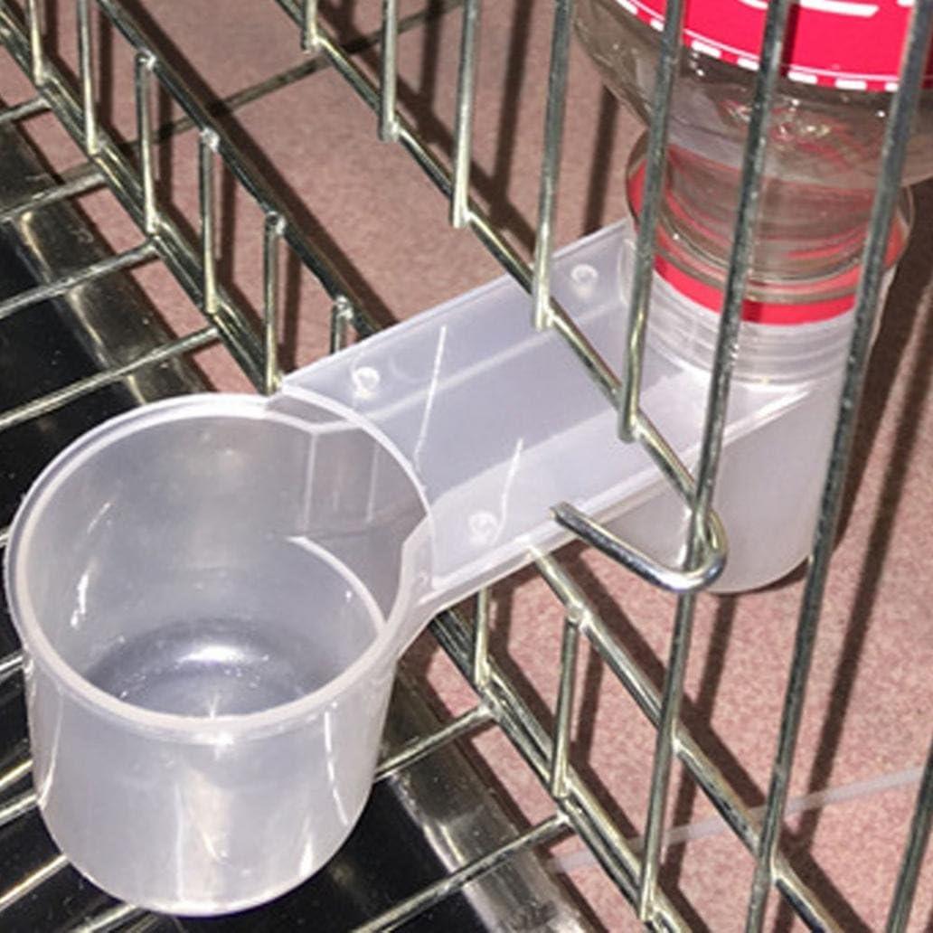quanjucheer Cuenco de plástico para jaula, diseño de loros de pájaros