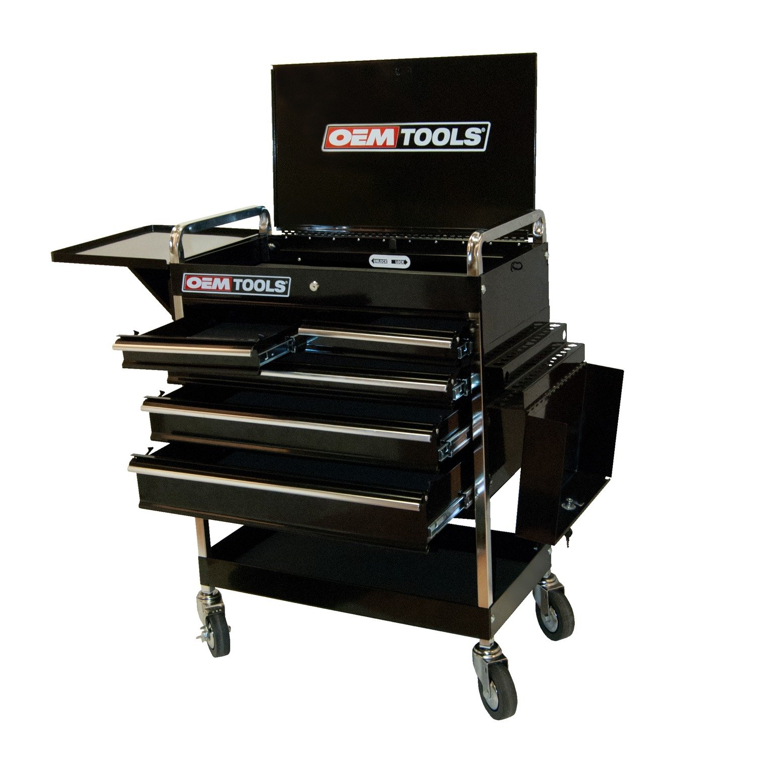 OEMTOOLS 24963  Service Cart with Five Drawers and One Tray
