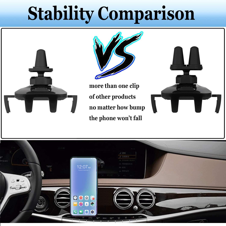 Babacom Supporto Auto Smartphone 360 Gradi di Rotazione [Versione Migliorata 2 Clip] Porta Cellulare da Auto Compatibile per iphone11 PRO X Samsung Xiaomi Huawei