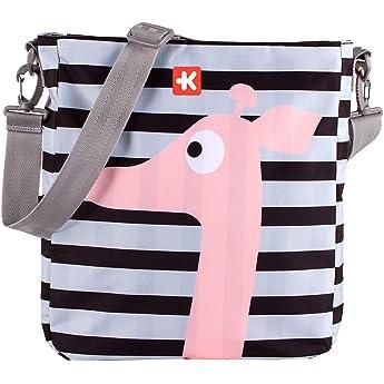 Kiwisac Happy Trip Kenya Bolso para Carro de Bebé Universal Diseño Original de Jirafas Negro y Gris Bolso Organizador, Bandolera Ajustable y Cintas de Sujeción 36x11x32 cm: Amazon.es: Bebé