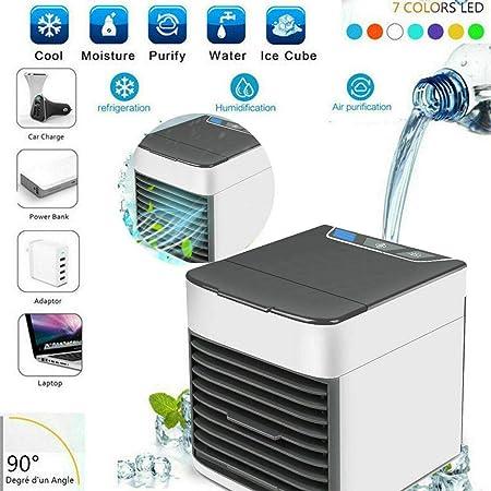 Mini aire acondicionado deshumidificador ventilador portátil de agua a corriente USB cw463: Amazon.es: Hogar
