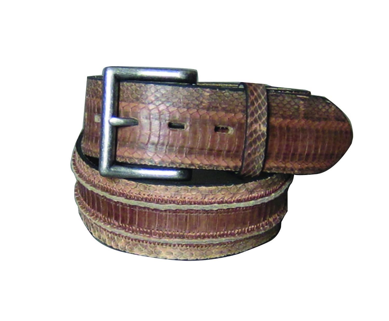 C-Red 40mm Mens Genuine Snake Handcrafted Leather Belt