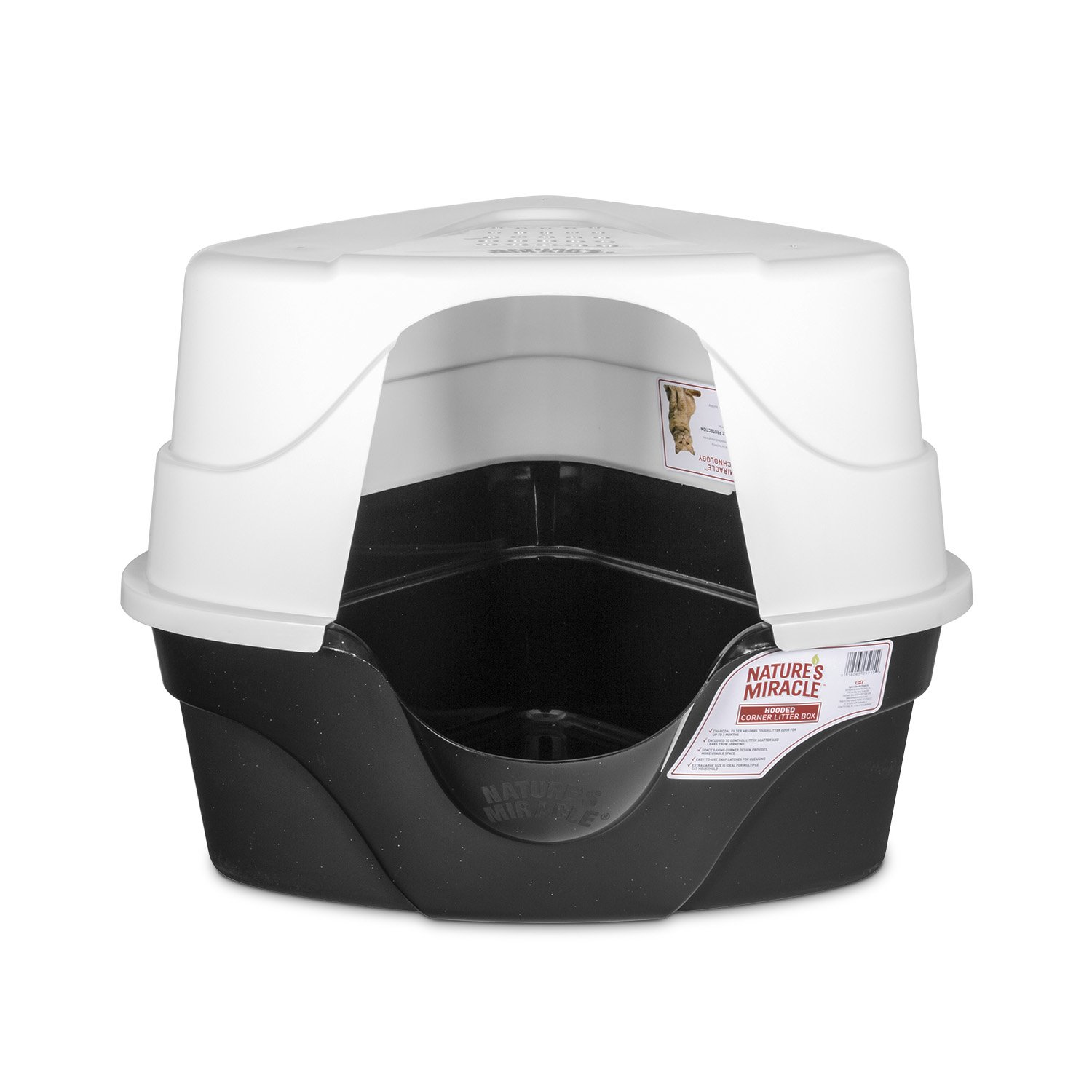 Nature's Miracle Advanced Hooded Corner Litter Box (P-5915) by Nature's Miracle (Image #4)