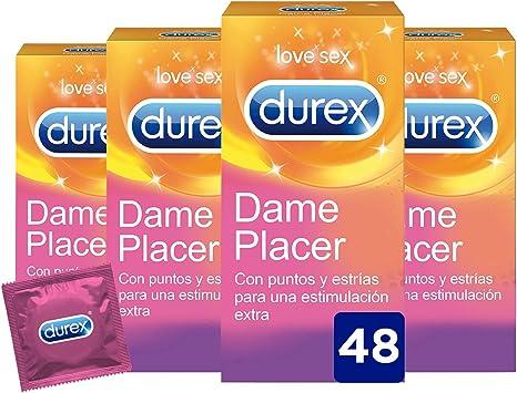 Durex Dame Placer Condones Estriados 48 Preservativos con estrias ...