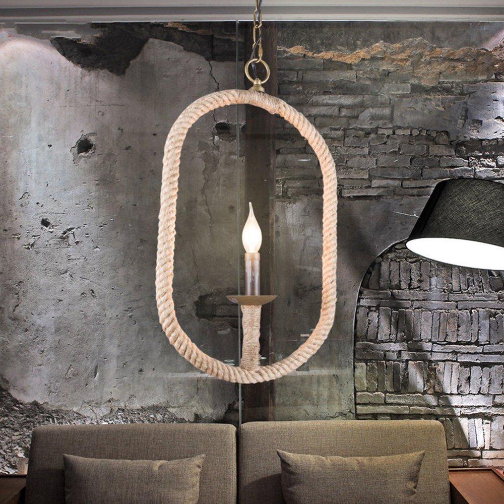 Joeyhome Vintage Seil Pendelleuchte Lampe Loft Kreative Persönlichkeit Industrielle Lampe Edison-birne American Style Für Wohnzimmer