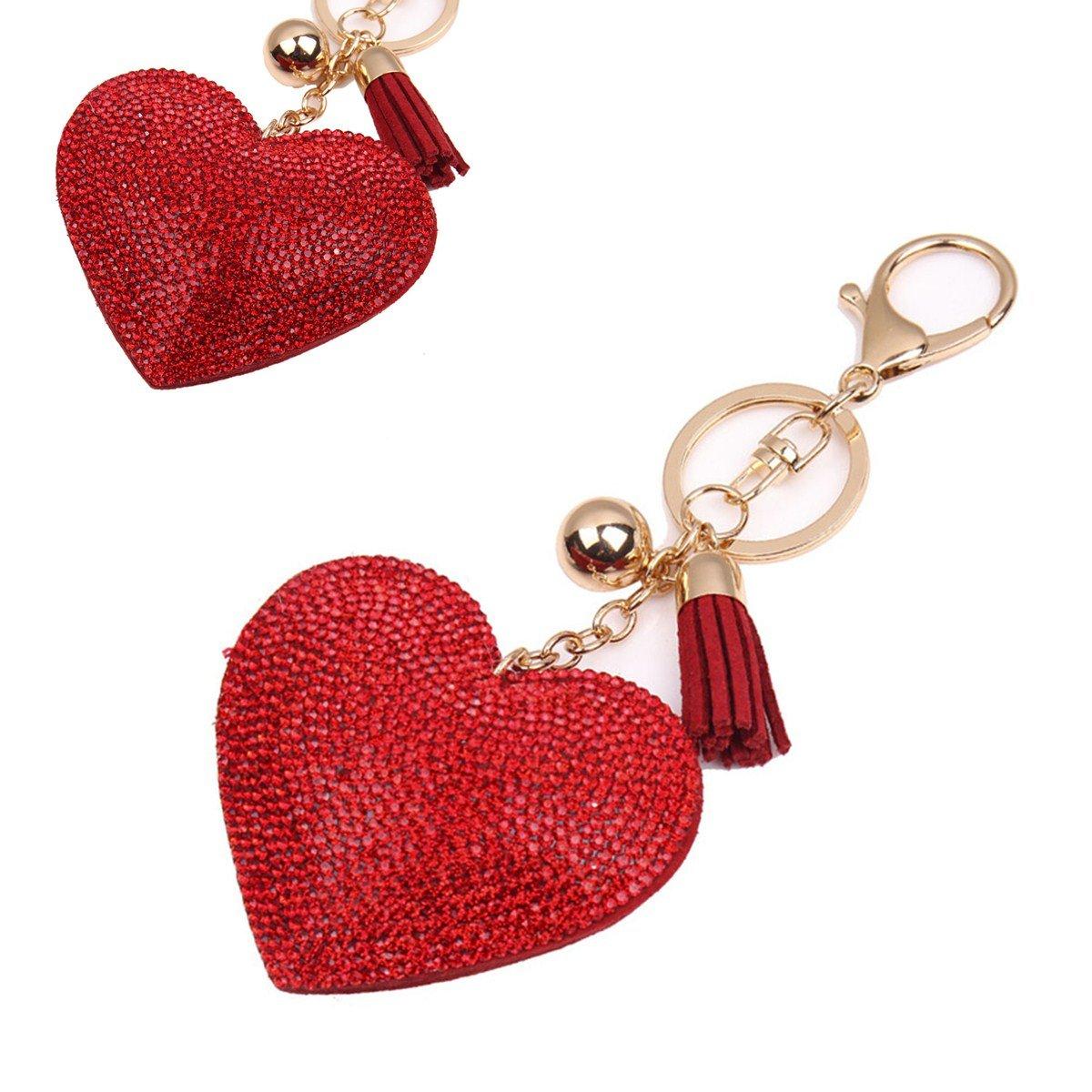 Amazon.com: LUOEM Valentine Key Chains Keychain Organizer ...
