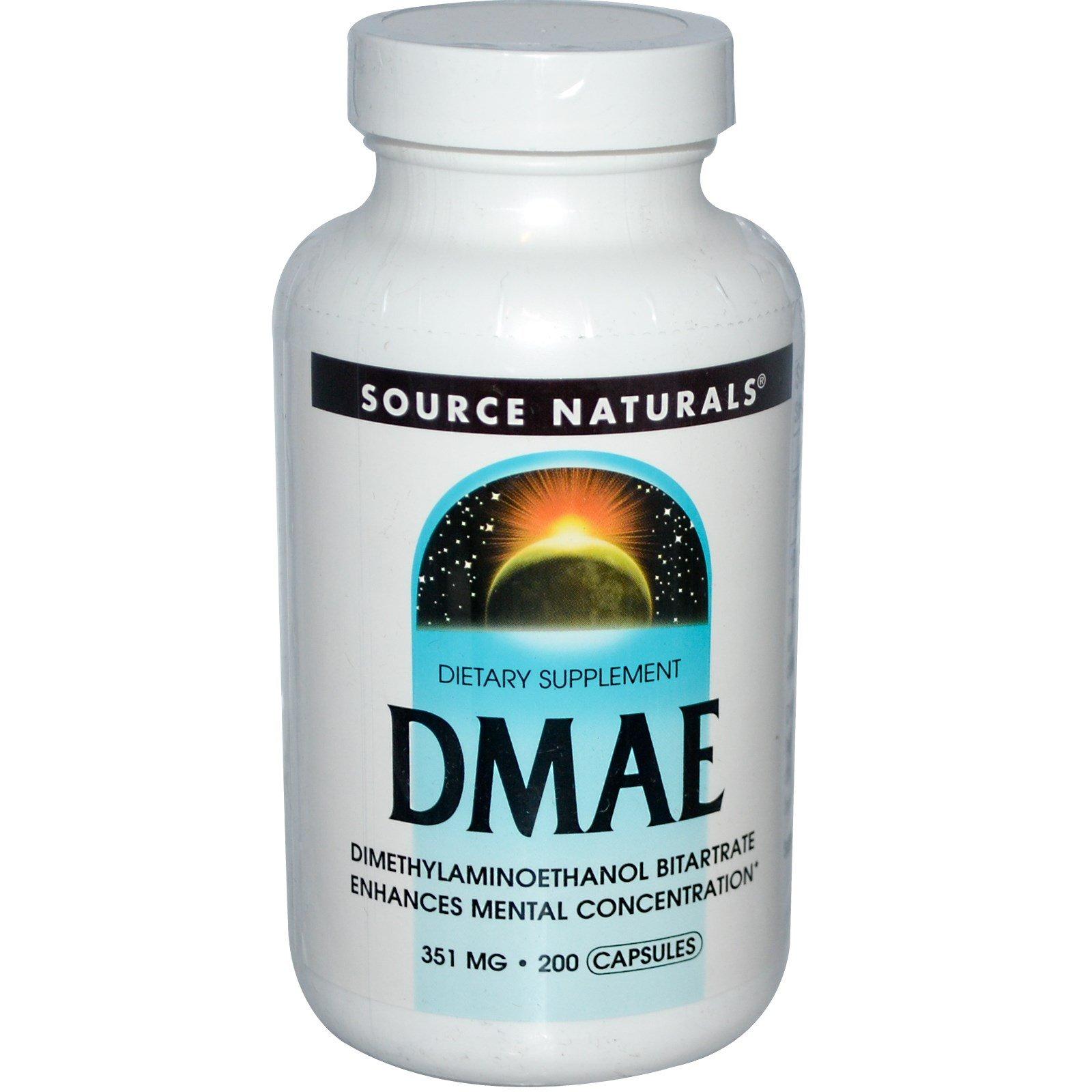 Source Naturals, DMAE, 351 mg, 200 Capsules - 3PC