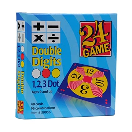 Amazon.com: 24 Game: 48 Card Deck, Double Digit cards Math Game ...