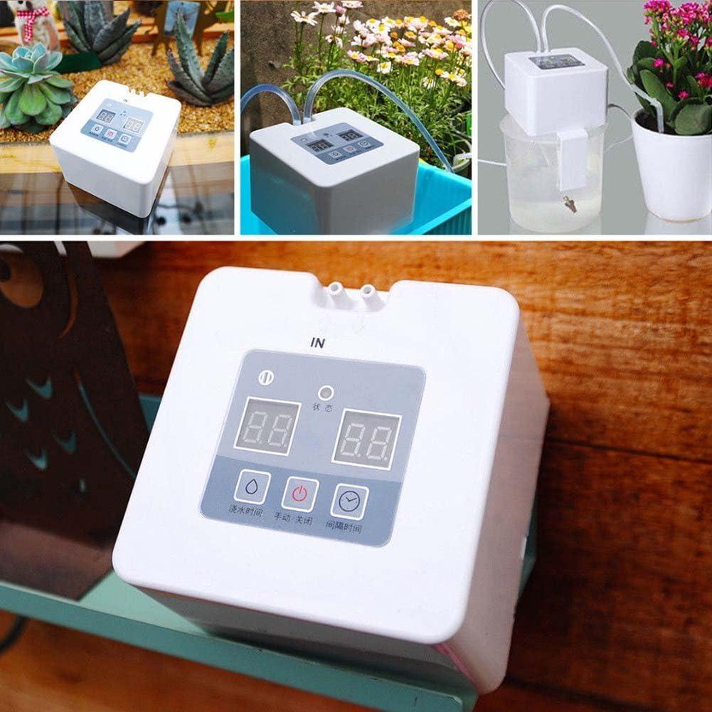 Fishyu DIY Automática Riego por Goteo Kit USB Pilas Indoor-Topfpflanzen Tiesto