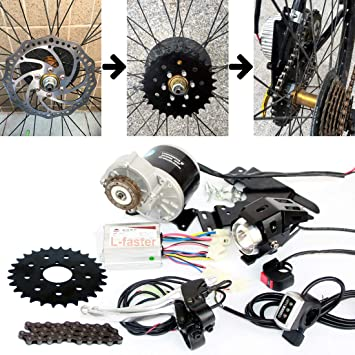 350W Bike Chain Drive Kit Puede Montar Bicicleta Uso 44mm Freno de ...
