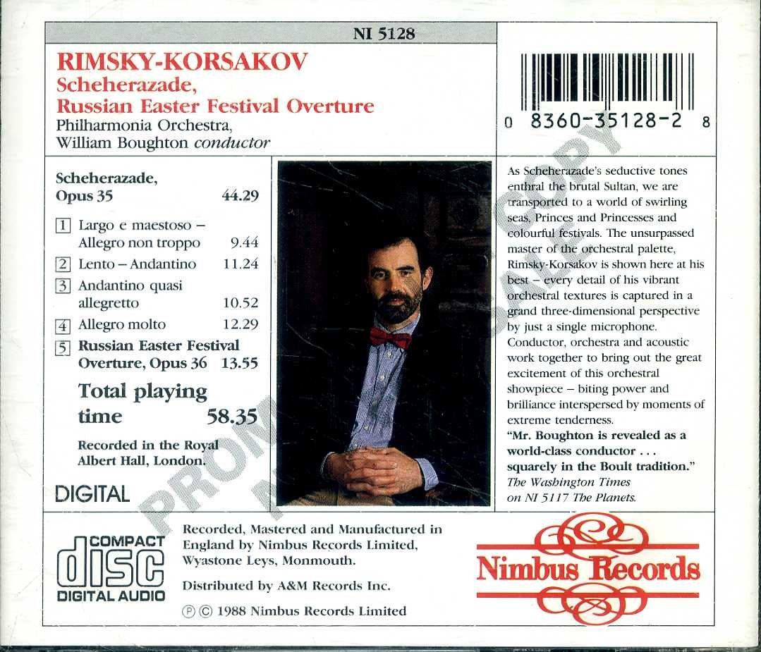 Rimsky-Korsakov: Scherazade / Russian Easter Overture