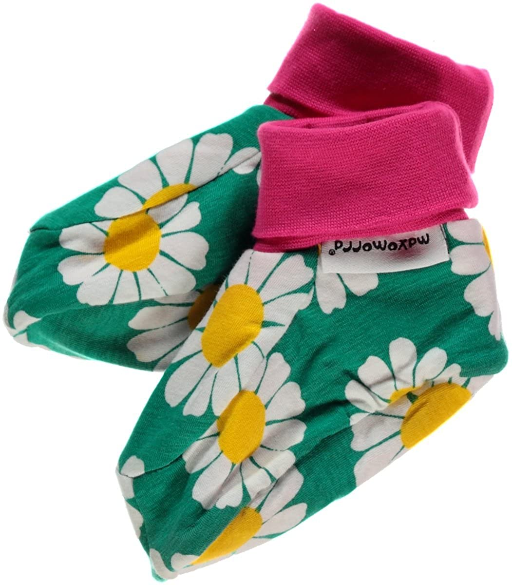 0-6 Months Maxomorra Unisex Baby Footies Daisy Floral Socks Manufacturer Size:50//68 Green