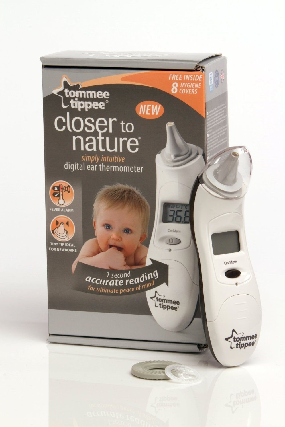 Tommee Tippee Closer to Nature Digitial Baby Children Ear Thermometer Brand New Gift for MOM