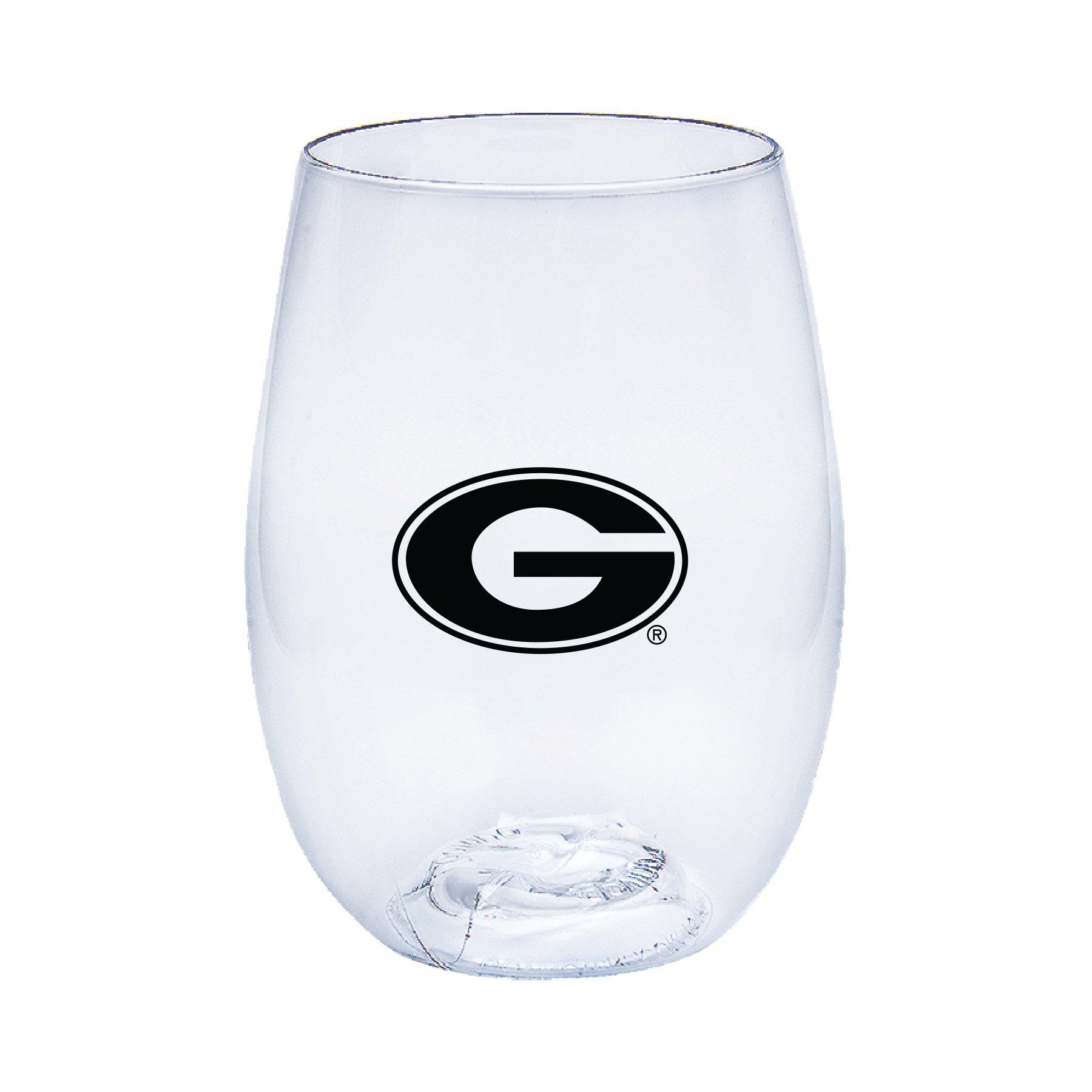 Neil Varsity Georgia Bulldogs Govino Shatterproof Wine or Beverage Glasses - Boxed set of 4