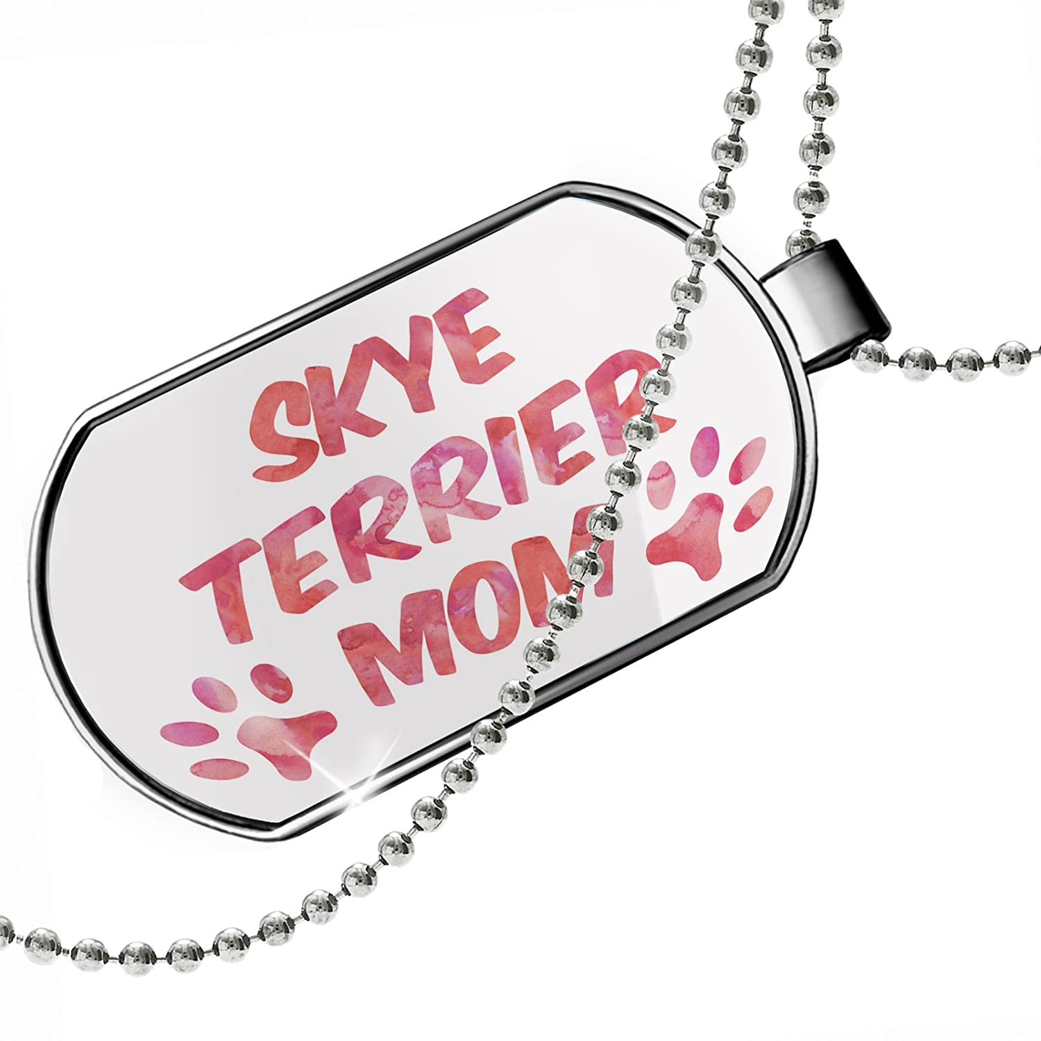 NEONBLOND Personalized Name Engraved Dog /& Cat Mom Skye Terrier Dogtag Necklace