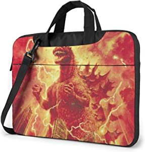 CHANGCHU5 Godzilla 13 14 15.6 Inch Laptop Carrying Bag - Protective Notebook Sleeve Case - Travel Briefcase Pouch with Handle 14 inch
