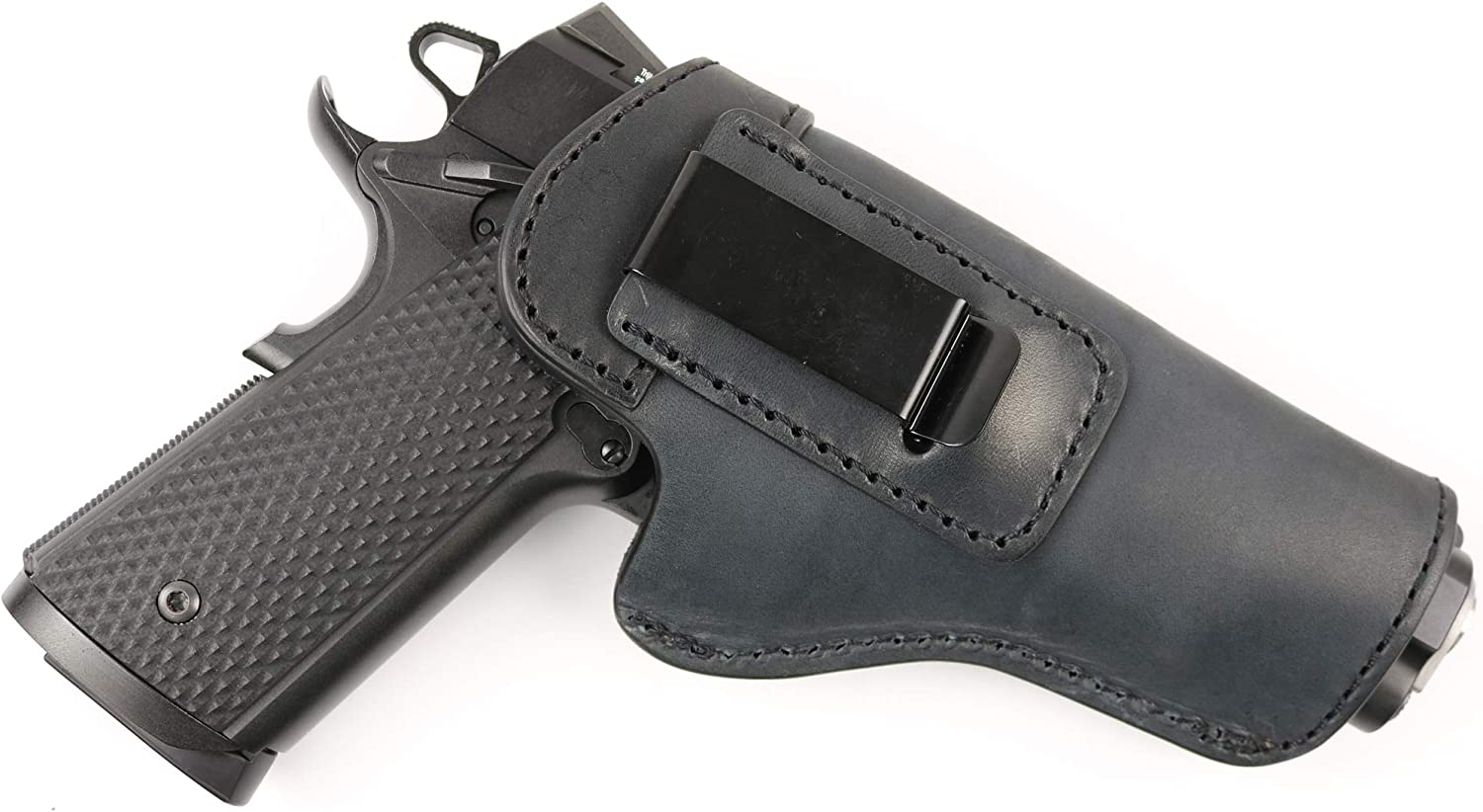 ComfortTac The Protector Leather IWB Holster | Compatible with Most 1911 Style Handguns from Springfield Armory | Kimber | Colt | Smith and Wesson S&W | Sig Sauer | Ruger | Remington and More
