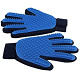 Delomo Deshedding Glove and Pet Grooming Glove for Dogs and Cats, Gentle and Efficient Pet Hair Remover Glove - Perfect for Short and Long Hair Pets