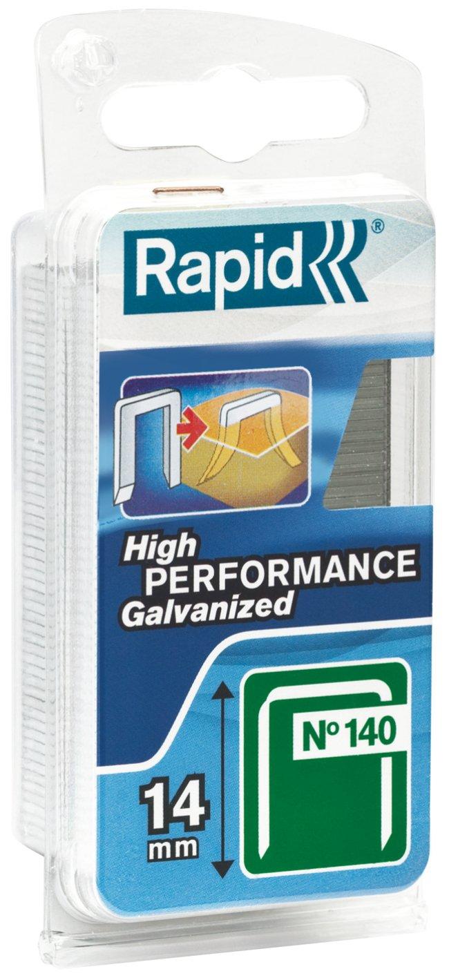 Longueur 10mm Agrafes N/°140 Rapid 648 pi/èces Haute performance 40109515 Fil galvanis/é Pour les travaux de construction et d/'isolation