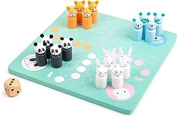 11462 Ludo Ositos de Madera, Small Foot, Juego de salón de Colores con Figuras de Animales.: Amazon.es: Juguetes y juegos