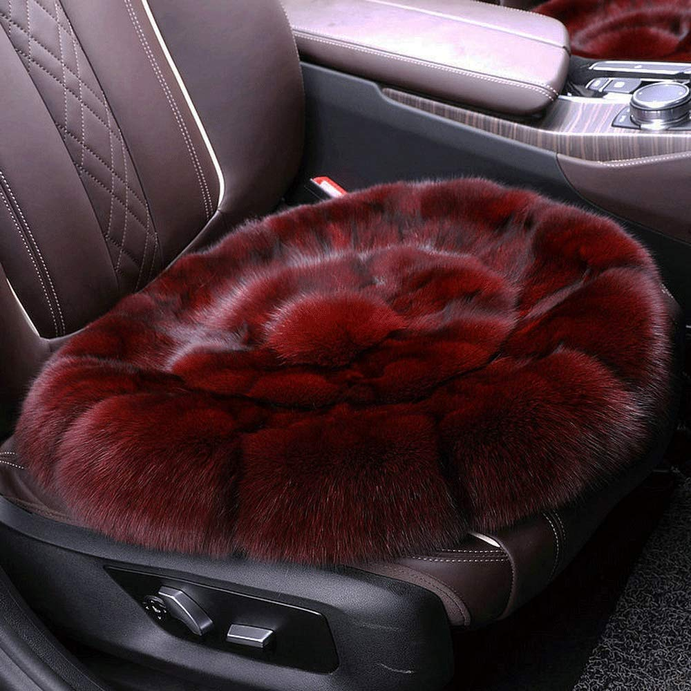 Winter Round Cushion Simulation Plush Car Seat Front Seat Cushion Simulation Plush Single Piece Round Pad Square Blanket Pad (Color : A, Size : Round) by Mlscushion