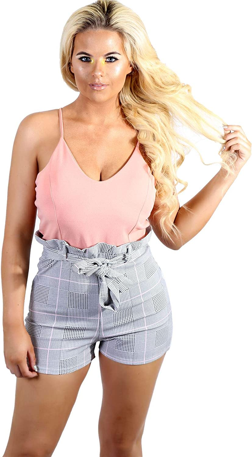 My Mix Trendz New Women Checked Detail Playsuit Casual Floral Printed Summer Jumpsuit
