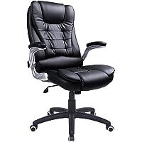 SONGMICS sedia da ufficio con schienale alto 76cm grande sedile regolabile e braccioli sedia girevole da scrivania per computer