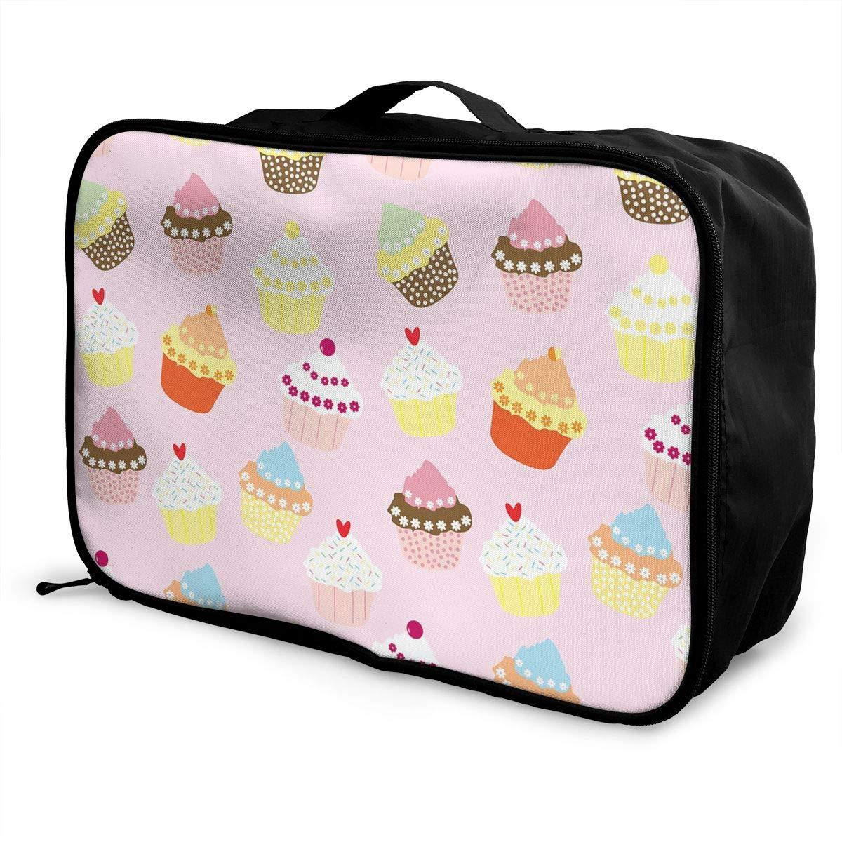Sweet Cupcakes Travel Bag Best Luggage Bags Duffle Bag Large Capacity Travel Organizer Bag