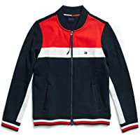 Tommy Hilfiger Adaptive Womens 76A0679 Adaptive Track Jacket with Magnetic Zipper Jacket - Blue