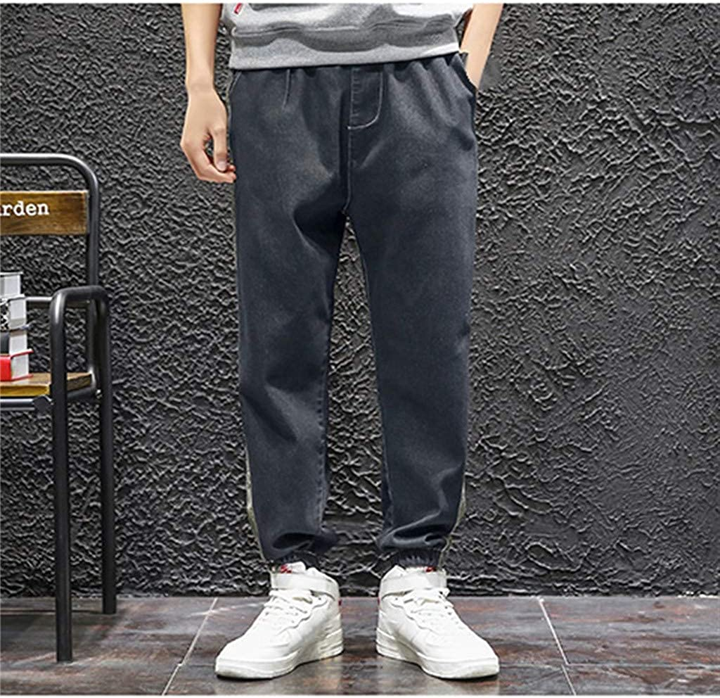 Palarn Sports Pants Casual Cargo Shorts Mens Fashion Casual Camouflage Elastic Waist Multiple Pockets Loose Jeans Pants
