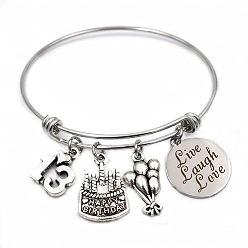 img birthday happy friend bracelet gift products best expandable adjustable charm bangle