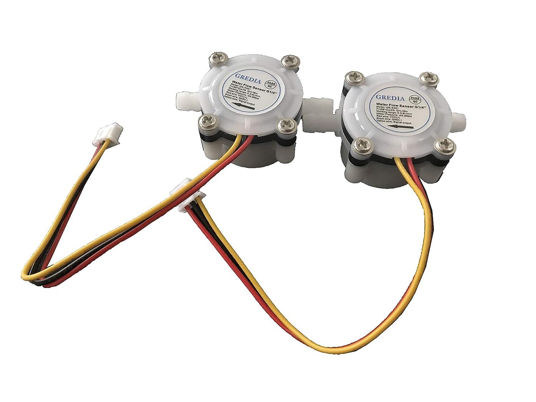 12mm Water Flow Hall Sensor Switch Flow Meter Flowmeter Counter 2-30L//min