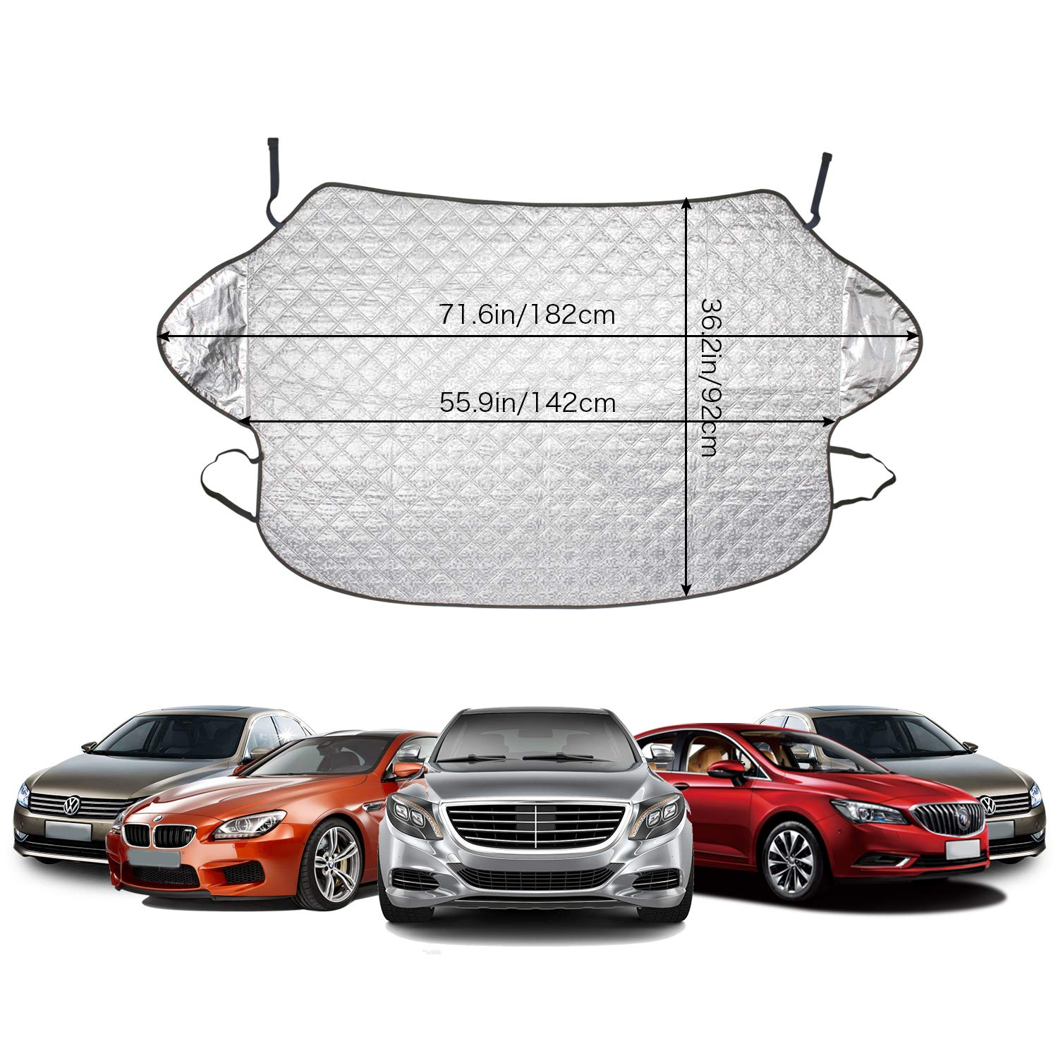 Frost Windscreen Cover Windshield Snow Cover Car Windshield Dust Cover Car Window Frost Ice Snow Protector for Summer//Winter all Weather Medium bedee Car Windscreen Snow Cover