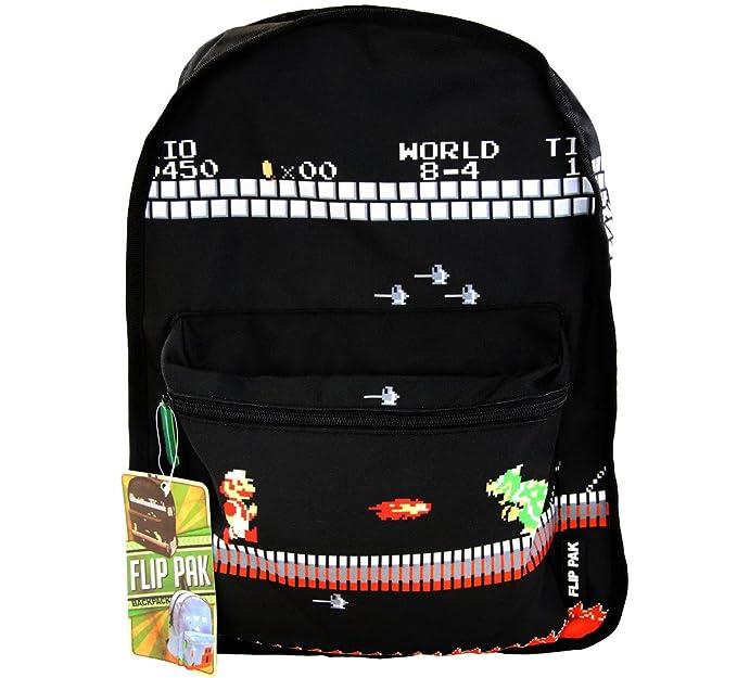 Nintendo Super Mario Bros Reversible mochila: Amazon.es: Ropa y accesorios