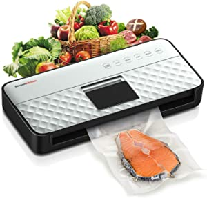 Vacuum Sealer Machine, Automatic Vacuum Air Sealing System Food Sealer with Hands-Free & One-Touch Design, 85Kpa Strong Suction