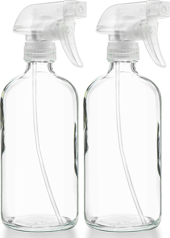 Plastic Spray Bottles YULEER 500ml // 16oz Empty Spray Bottles for Cleaning Solutions Hand Sanitizer Hair Pack of 5 Plants