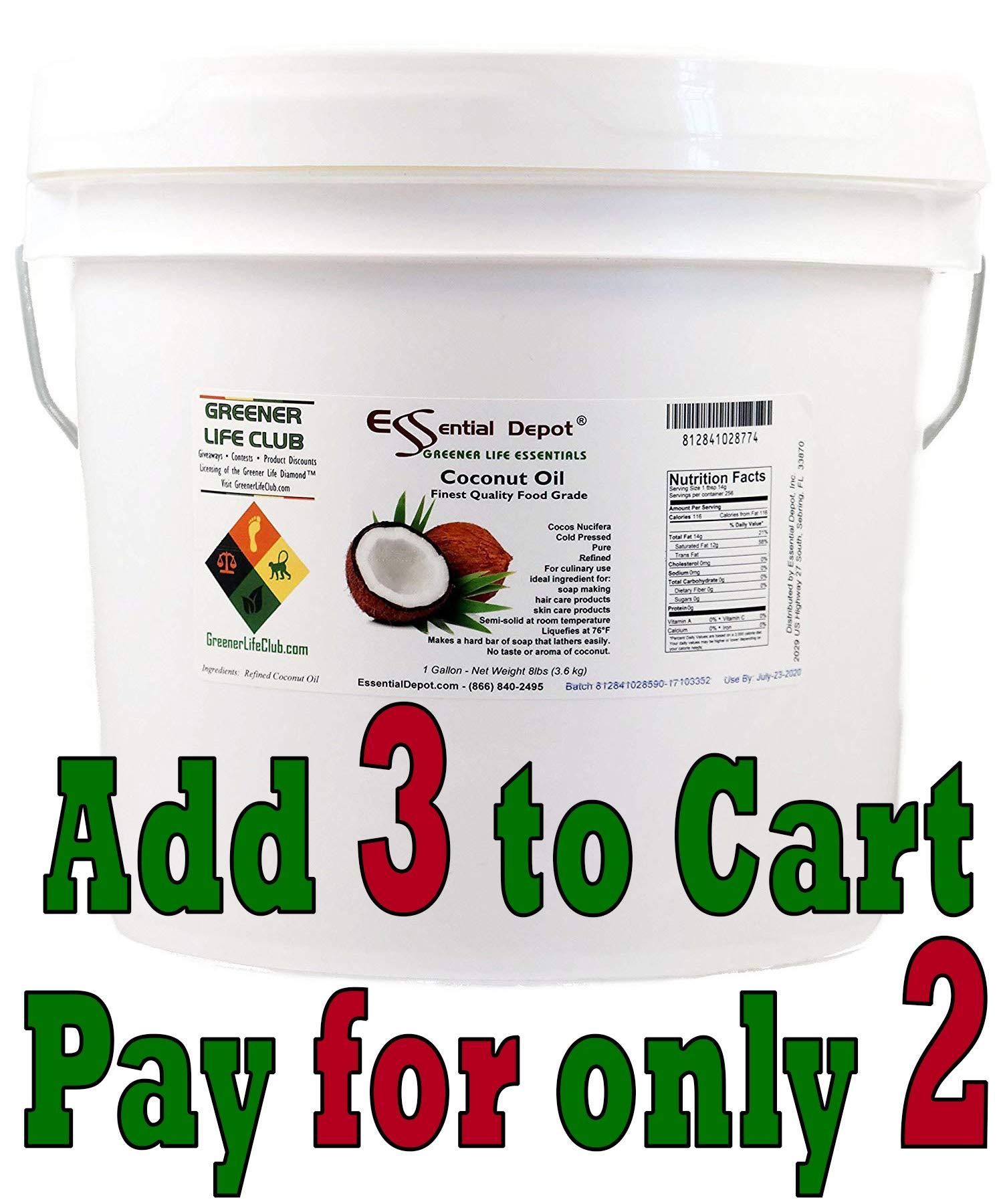 73db53f3f20cd ESSENTIAL DEPOT Coconut Oil - Finest Quality Food Grade - 8 lbs - In Pail -