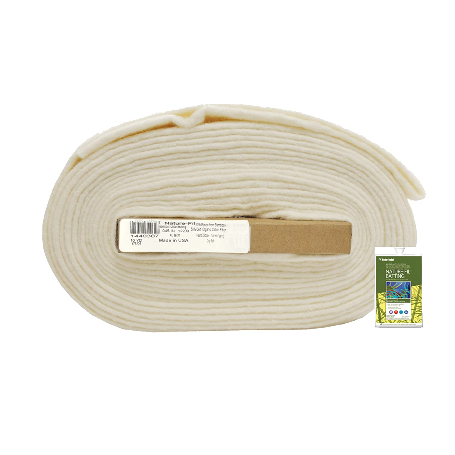 Fairfield 45-Inch by 10-Yard Nature-Fil Blend Quilt Batting, Natural BAMP4510