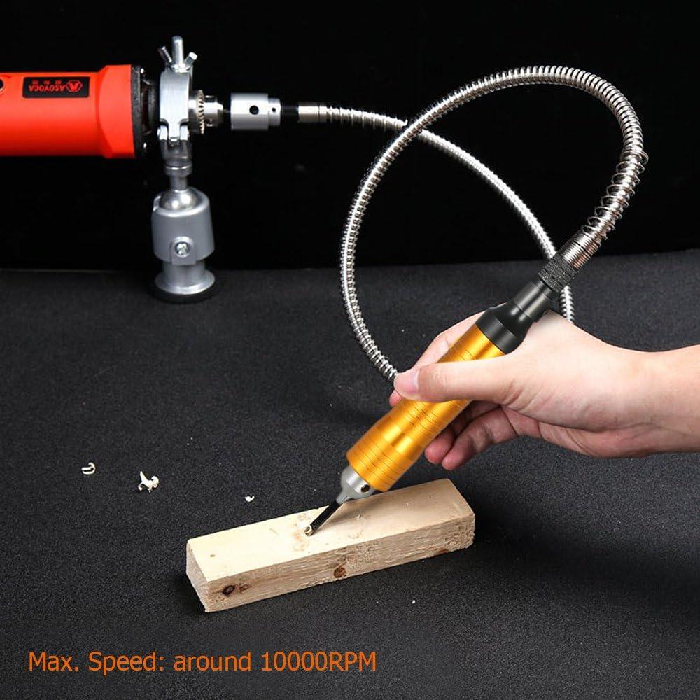 Docooler Rotary Grinder Tool tragbare flexible Welle flexibles flexibles Wellenrohr 0-6.5mm Handst/ück f/ür Dremel Style Bohrmaschine Drehwerkzeug Zubeh/ör 6mm 110cm