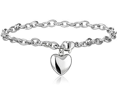Amazon schmuck  Jstyle Schmuck Edelstahl Armkette Anhänger Damenarmband ...