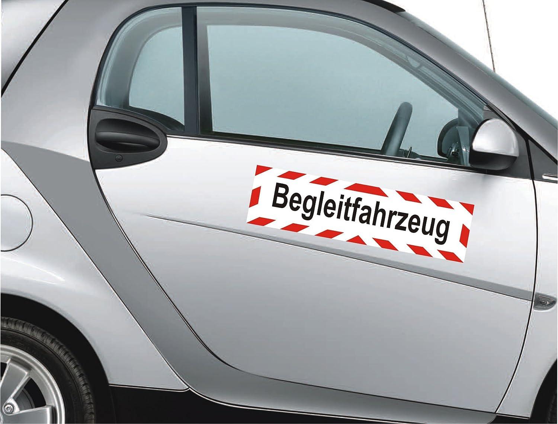 45 x 12 cm reflektierend INDIGOS UG Magnetschild Begleitfahrzeug Magnetfolie f/ür Auto//LKW//Truck//Baustelle//Firma