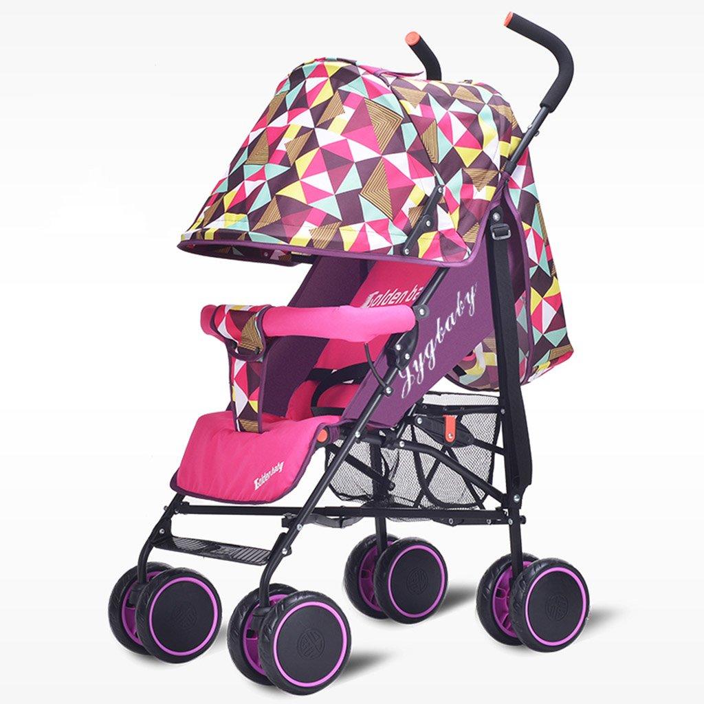HAIZHEN マウンテンバイク ベイビーカート超軽量ポータブルシット/折りたたみ式子供用トロリー寝具セットサンシェード日除けアンチUVベイビーキャリッジ 新生児 B07DLCJMWS3