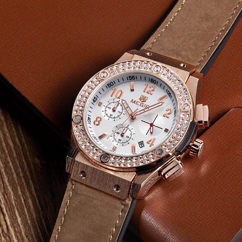 Amazon.com: Relojes De Mujer Moda 2018 Women Quartz Rose Gold Diamond Crystal Chronograph Watch Fashion Luxury Relogio Feminino: Watches