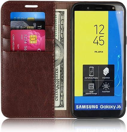 Moevn - Funda de Piel con Tapa para Samsung Galaxy J6 (función ...