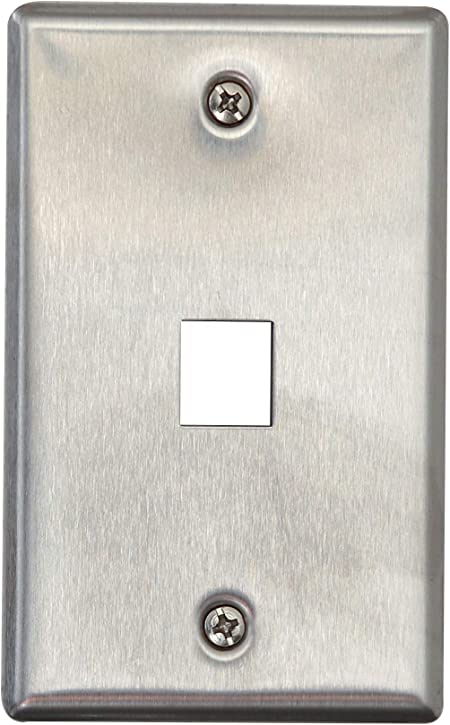 5 Keystone Blank Insert Cover Snap-in Wall Face Plate Hole Jack RJ45 CAT3 White